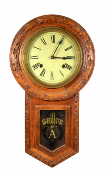 Wall Clock, Regulator 'A' : Lot 991