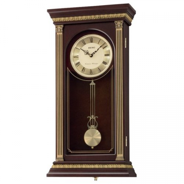 Details about New Seiko Chiming Wall with Pendulum Clock QXH047BL