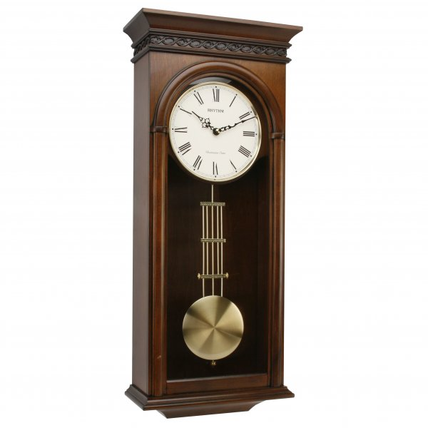 ... WESTMINSTER CHIME ALDER WOOD PENDULUM WALL CLOCK - QUALITY CHIMES
