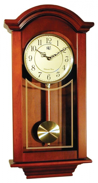 City Clocks - Chiming Regulator Wall Clock with Swinging Pendulum ...