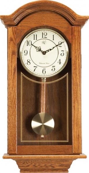 ... Clocks-24-Chiming-Regulator-Wall-Clock-with-Swinging-Pendulum-and-Oak