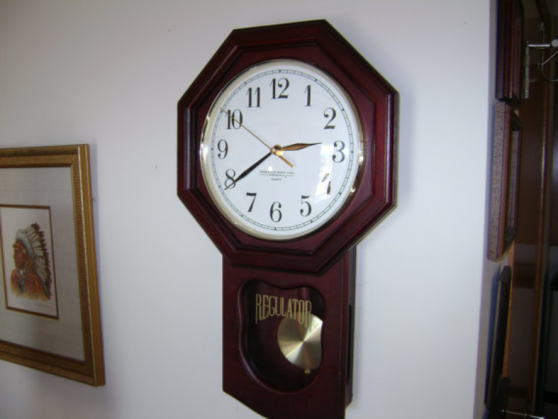 Vintage Regulator Wall Clock with Chime and Pendulum by KlockWize
