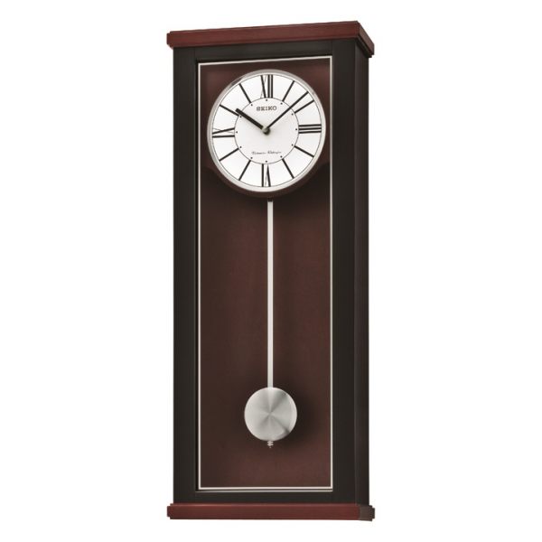 Seiko Deluxe Black Brown Pendulum Wall Clock - Westminster Whittington ...