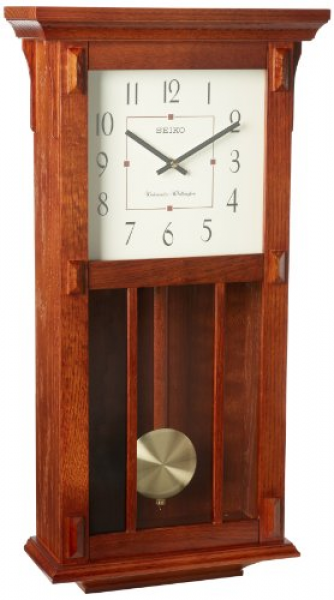 to clocks prev next compare seiko wall clock with pendulum dark brown ...