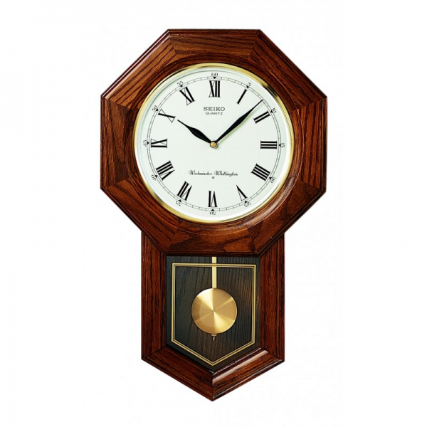 Woodward Pendulum Wall Clock - QXH102BC | Seiko Clocks