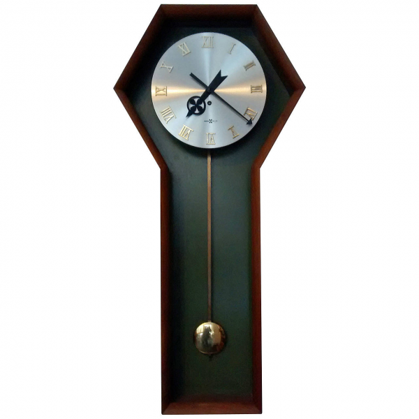 Wall Mounted Pendulum Clock by George Nelson for Howard Miller at ...