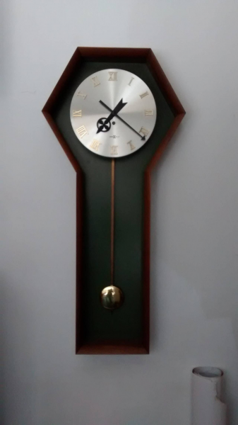 Wall Mounted Pendulum Clock by George Nelson for Howard Miller image 7