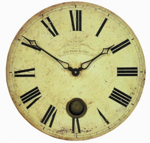 Large Swiss Clockmakers wall clock with pendulum by THE CLOCK FACTORY ...