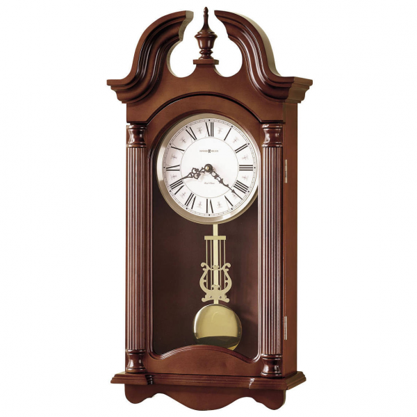 Howard miller quartz dual chime Wall Clock pendulum in cherry 625253