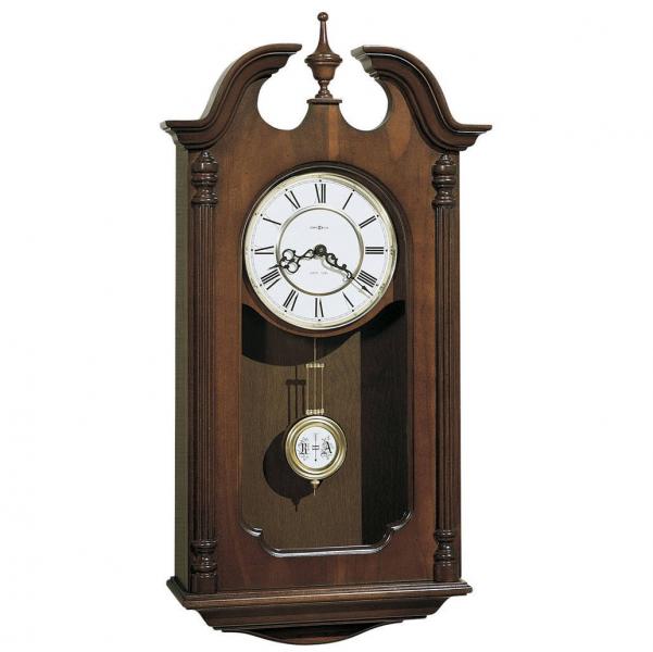chiming cherry wooden pendulum Wall Clock 612697 Danwood Howard miller