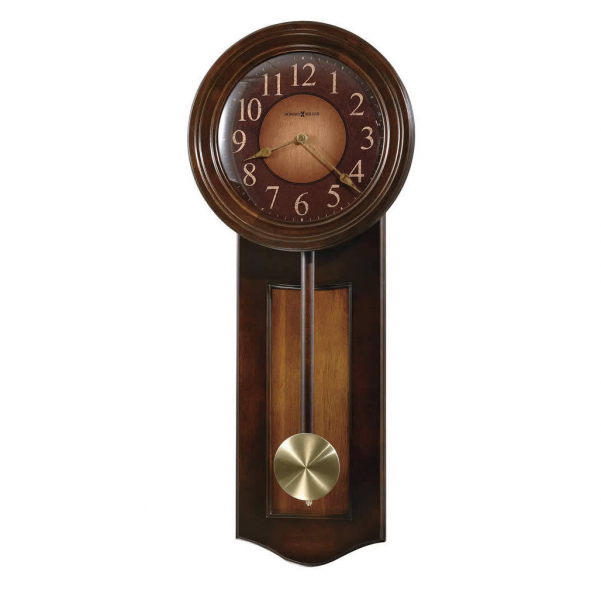 Quartz Howard Miller Cherry Wall Clock wood pendulum 625385 Avery