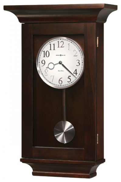 Howard Miller Dual Chime Black Coffee Pendulum Wall Clocks | GERRIT ...