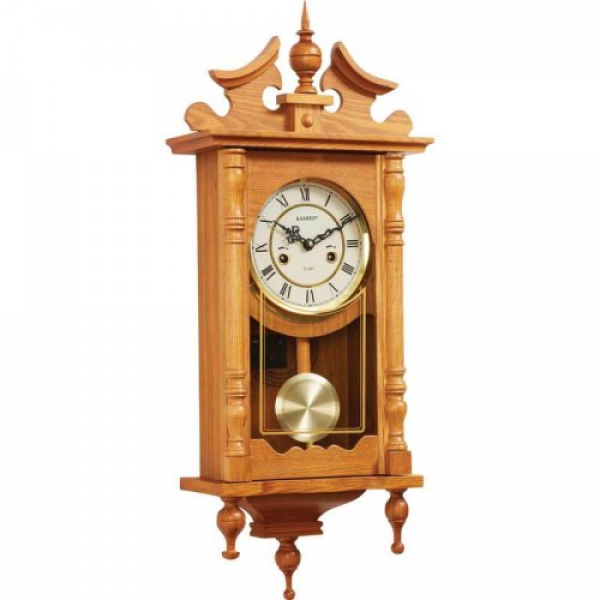 New Kassel 15 Day Oak Wall Clock Chimes Wood Wooden Pendulum | eBay