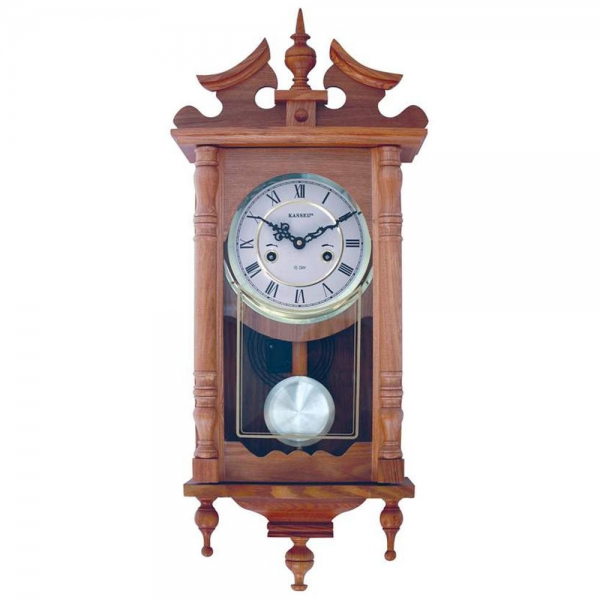 Kassel 15-Day Oak Wall Clock