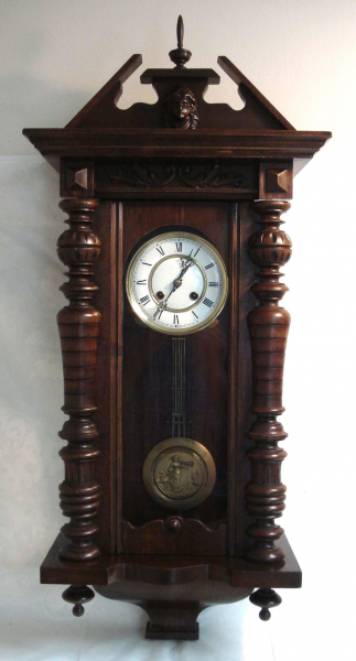 Antique German Vienna Regulator Wall Clock Figural Pendulum ...