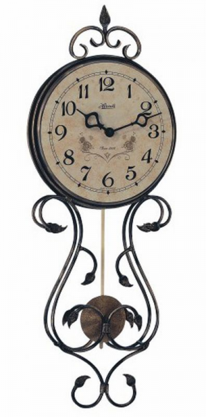 Hermle Wall Clocks Wrought Iron Pendulum Wall Clock with Antique ...