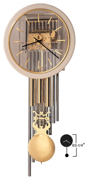 Howard Miller 65 Triple Chime Wall Clock with Pendulum & Weights ...
