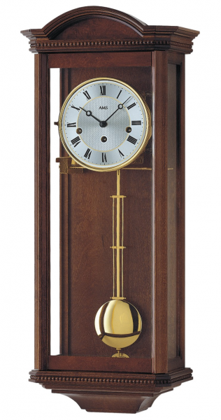 Regulator wall clock, 8 day running time from AMS AM R2663/1 - 8 day ...