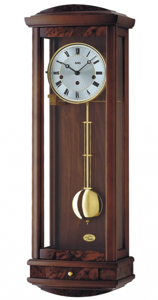 Regulator wall clock, 8 day running time from AMS AM R2607/1 - 8 day ...