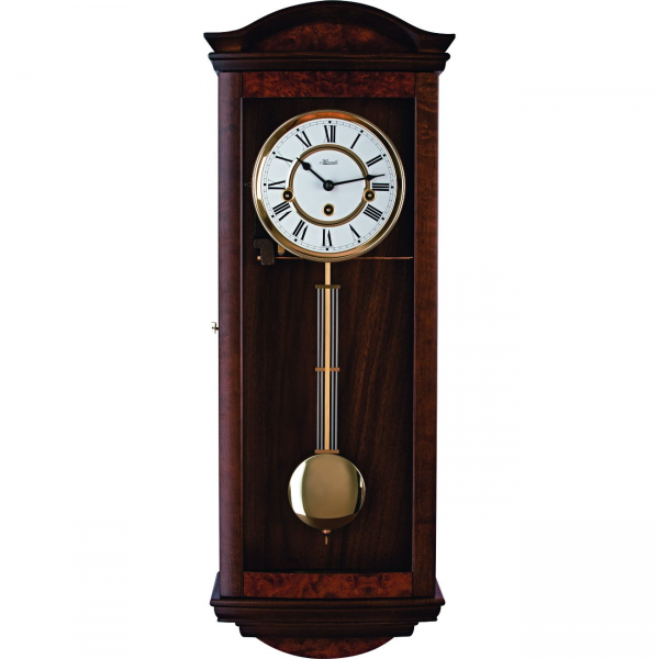 Hermle Pegotty Mechanical Regulator Wall Clock - Walnut - Westminster ...