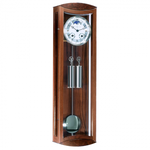 Hermle Excalibur Mechanical Regulator Wall Clock - Walnut Finish - 1/2 ...