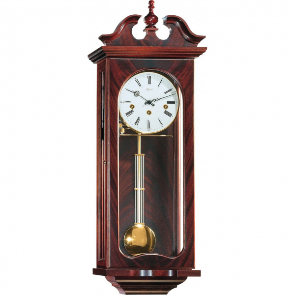 Hermle Waterloo Mechanical Pendulum Regulator Wall Clock - Mahogany