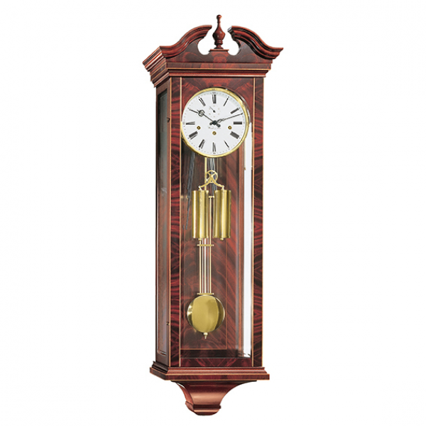 Hermle Bristol Mechanical Regulator Wall Clock - Walnut - 1/2 Hour ...