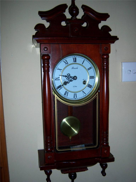 Details about ANTIQUE STYLE 31 DAY PENDULUM CHIMING WALL CLOCK NR FREE ...
