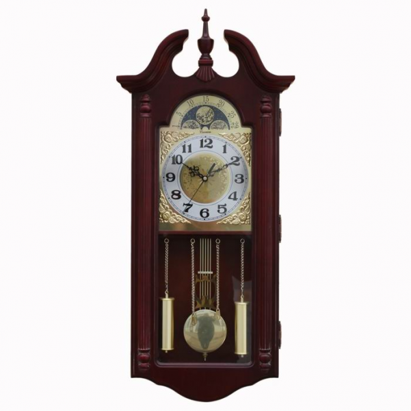 Old-fashioned-antique-wall-clock-solid-wood-wall-clock-mute-pendulum ...