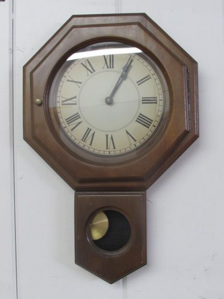 Lot Detail - HANDSOME WOODEN, QUARTZ PENDULUM, WALL CLOCK -TAKANE