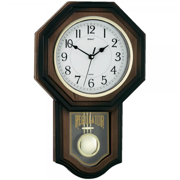 Walnut Quartz Pendulum Clock (W x H x D) 29 x 43 x 5 cm from Conrad ...
