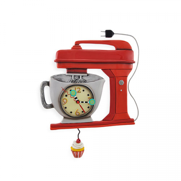Allen Designs Vintage Mixer Clock Red - On Sale Now!