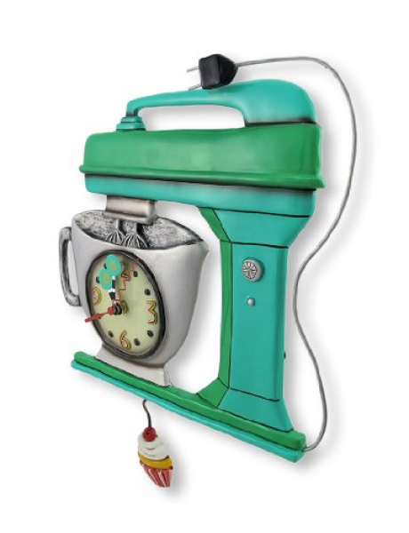 Allen Designs Green Vintage Kitchen Mixer Wall Clock with Cupcake ...