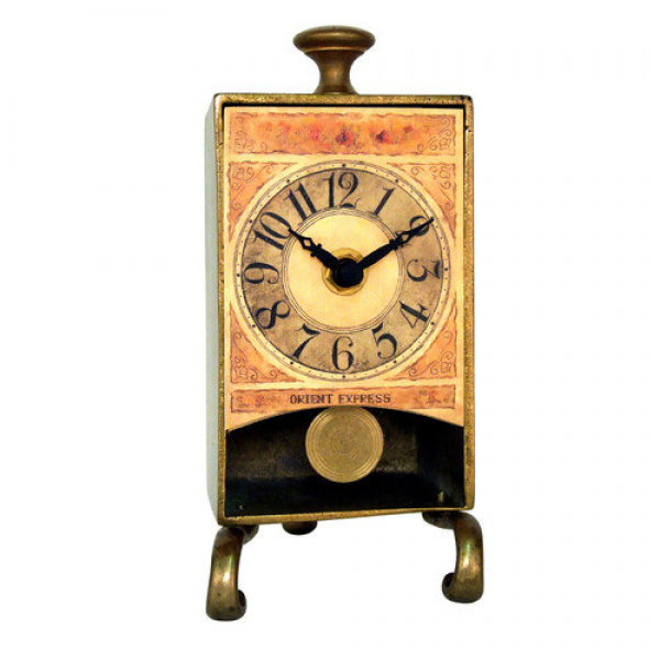 New Haven Brass Anniversary Table Pendulum Clock