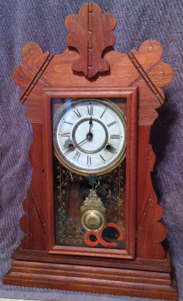 New Haven Pendulum Kitchen Clock Chimes On The Hour And Half Hour 1895 ...