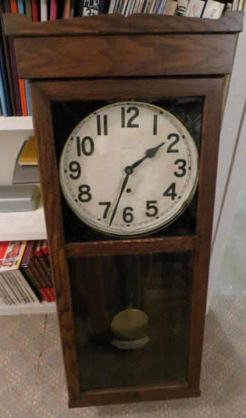 Antique New Haven Regulator Pendulum 8 Day Wall Clock No3043 SALE