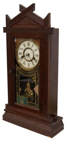 544: NEW HAVEN ARTS & CRAFTS CLOCK, DIAL PENDULUM : Lot 544