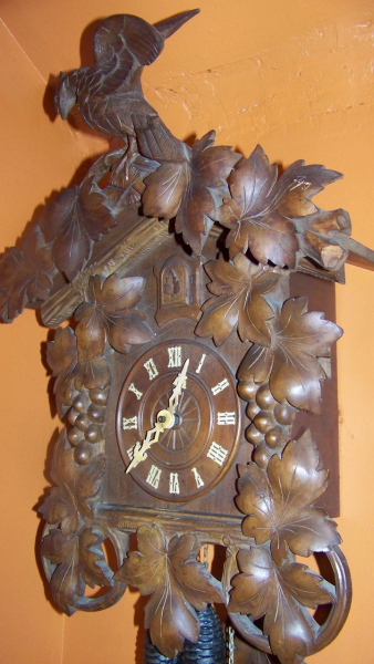 Large Highly Carved Antique Black Forest Cuckoo Clock C 1890: clock ...