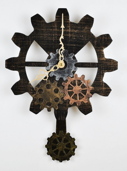 Steampunk Gear Pendulum Wall Clock - Free Shipping in USA on Etsy, $80 ...