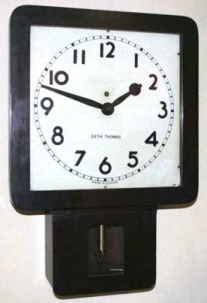 THOMAS CLOCKS CANADA | Seth Thomas square drop pendulum wall clock ...