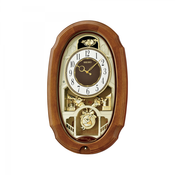 Seiko Oblong Melodies in Motion Pendulum Wall Clock