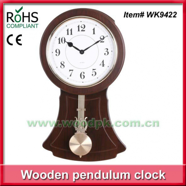 24x49cm Oval shape quartz wooden pendulum clock gift wall clock, View ...