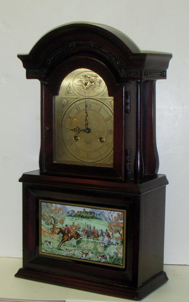 ... Fox Hunt Horse Hound 8 Day Chime Wall Clock Berkshire Mahogany | eBay
