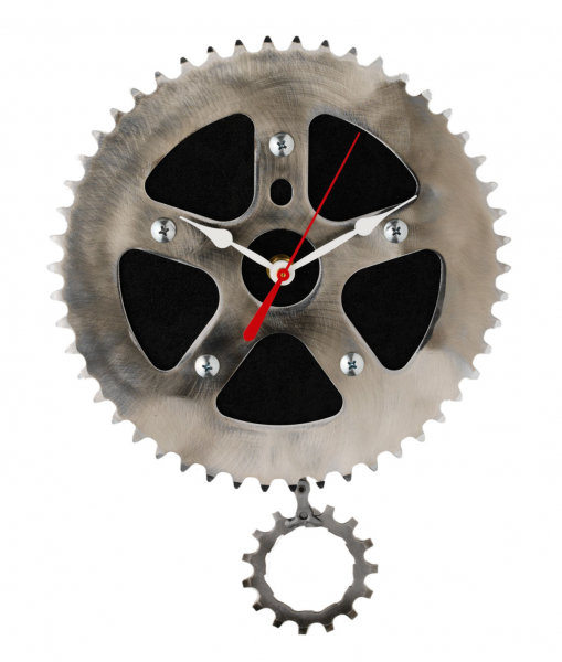 RECYCLED PENDULUM WALL CLOCK | Bicycle Clock, Gear, Chain, Graham ...