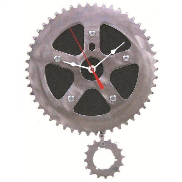 Bike & Rubber Wall Clock | upcycled, recycled, wall clock, pendulum ...