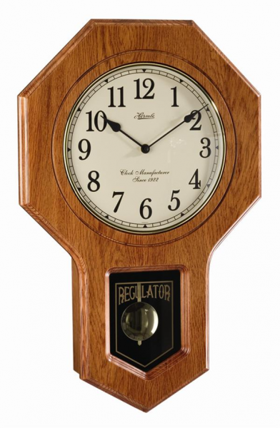 Hermle Hermle Classic Schoolhouse Regulator - Oak 70733-I92200 ...