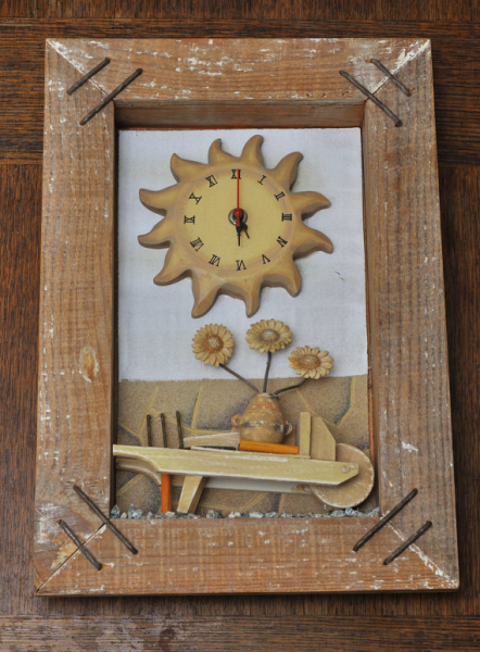 French Provencal Countryside Vintage Wood Pendulum Wall Quartz Clock ...