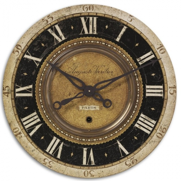 ... Brass Pendulum Wall Clock With Exposed Gears contemporary-wall-clocks