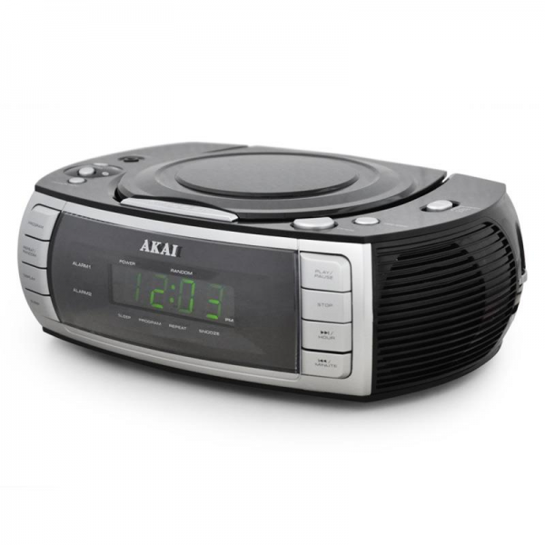 Akai ARC120BK Clock Radio CD Player Dual alarm -Black: Click to ...