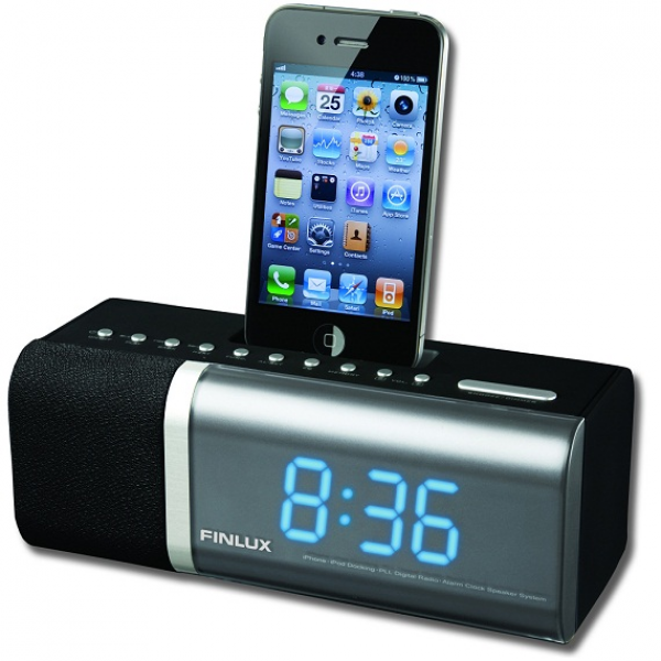 Details about Finlux Alarm Clock Radio with iPod/iPhone Dock (ID-F510)